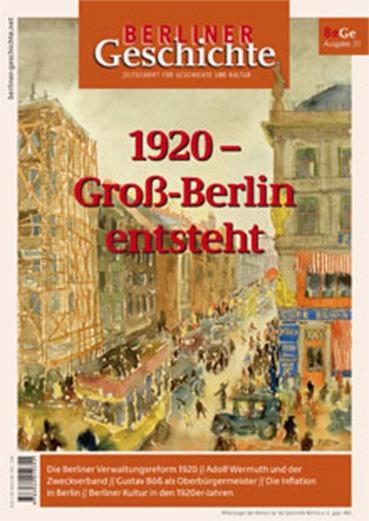 Groß-Berlin entsteht Cover Berliner Geschichte