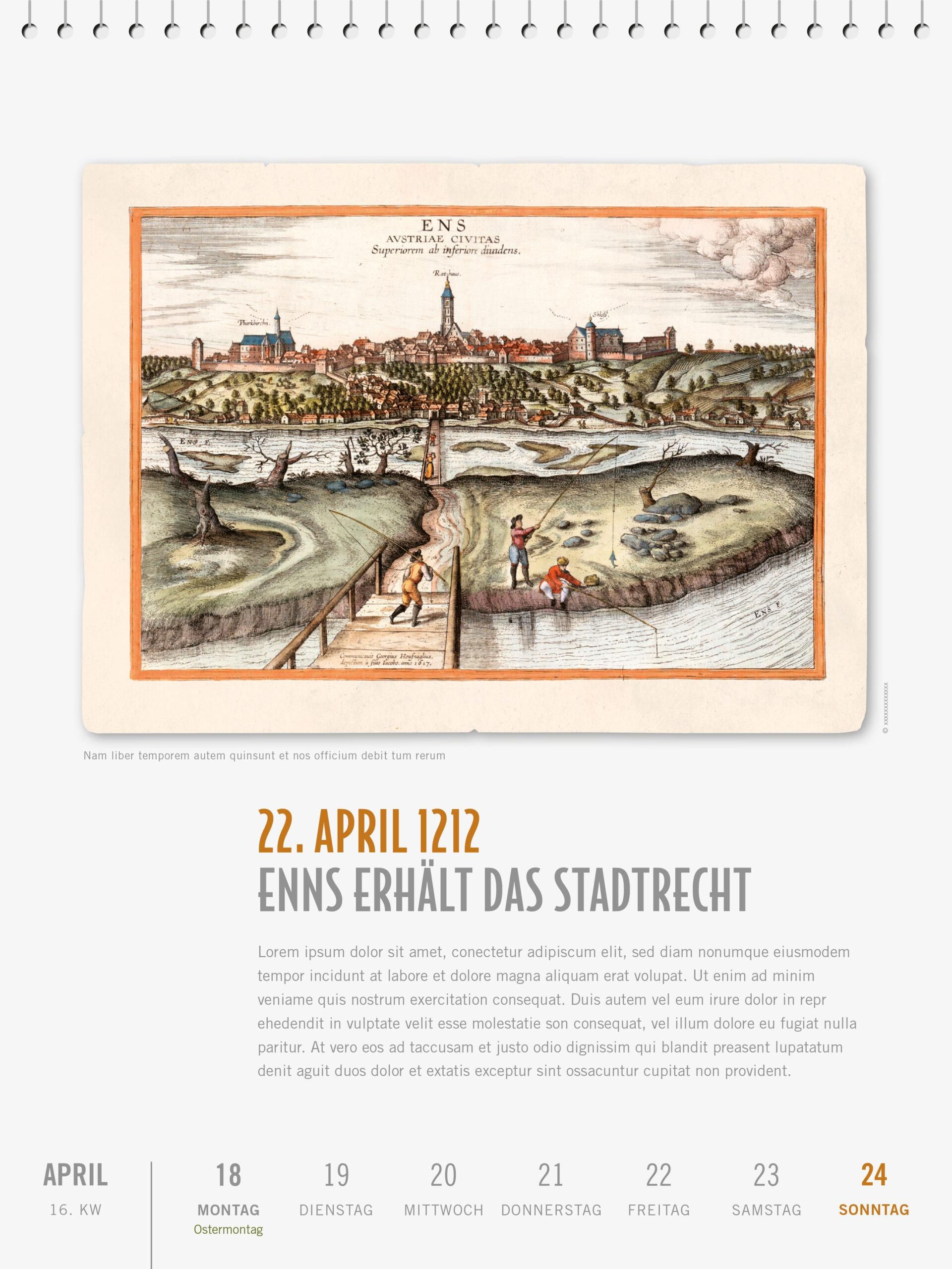 Österreichische Geschcihte Kalender