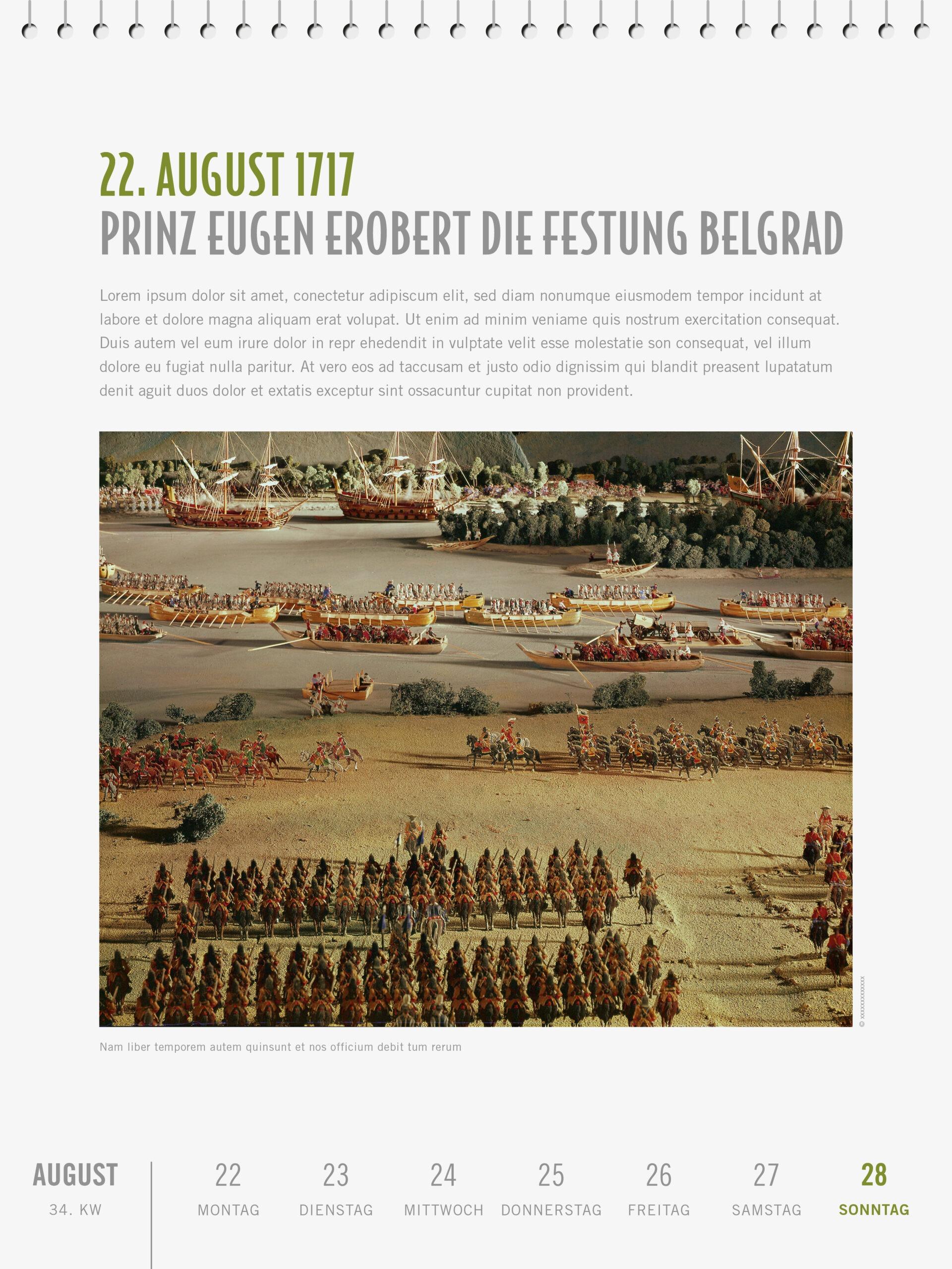 Österreichische Geschichte Kalender